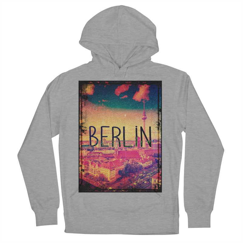 Berlin, vintage Men's French Terry Pullover Hoody by ALMA VISUAL's Artist Shop