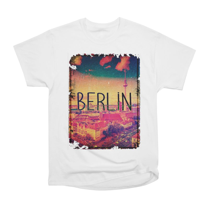 Berlin, vintage Men's Heavyweight T-Shirt by ALMA VISUAL's Artist Shop