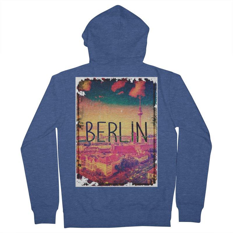 Berlin, vintage Women's Zip-Up Hoody by ALMA VISUAL's Artist Shop