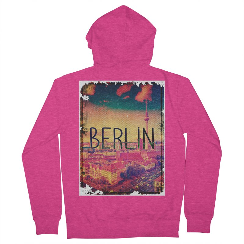 Berlin, vintage Women's Zip-Up Hoody by ALMA VISUAL's Artist Shop