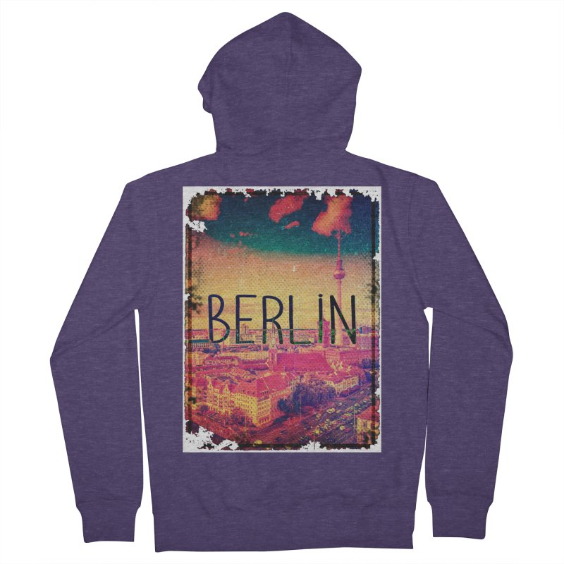 Berlin, vintage Men's Zip-Up Hoody by ALMA VISUAL's Artist Shop