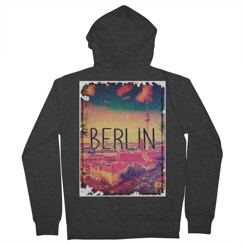Berlin, vintage Men's Zip-Up Hoody by ALMA VISUAL's Artist Shop