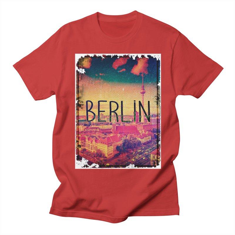 Berlin, vintage Men's T-Shirt by ALMA VISUAL's Artist Shop