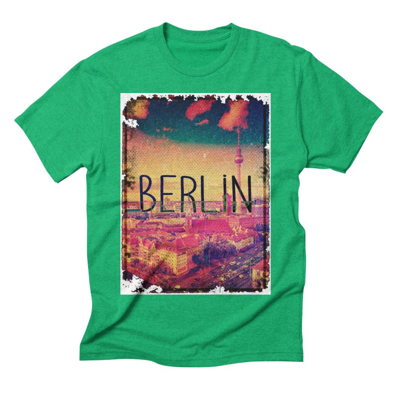 Berlin, vintage Men's Triblend T-Shirt by ALMA VISUAL's Artist Shop