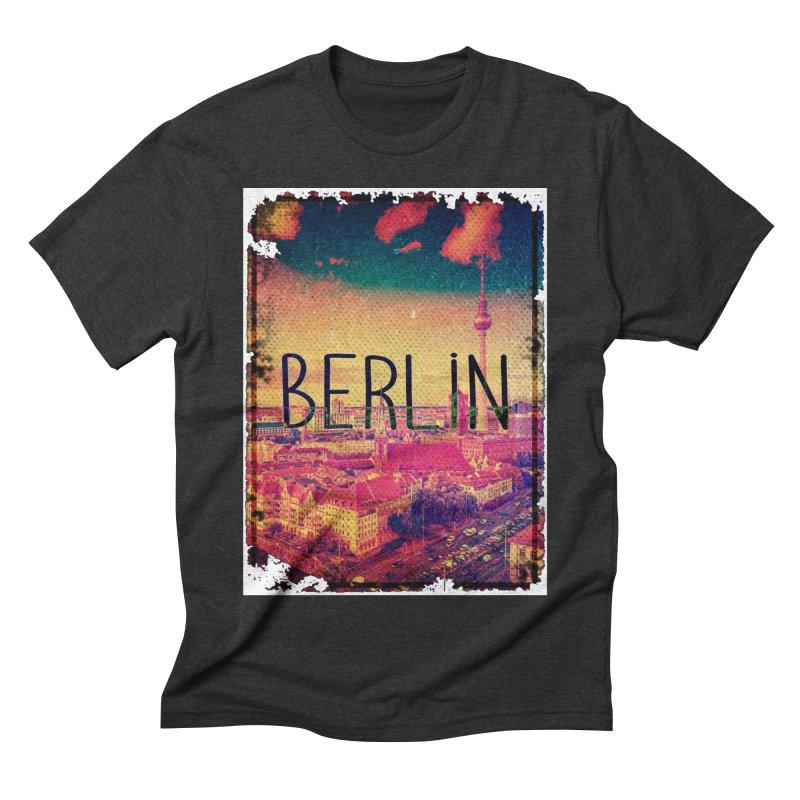 Berlin, vintage Men's Triblend T-Shirt by ALMA VISUAL's Artist Shop