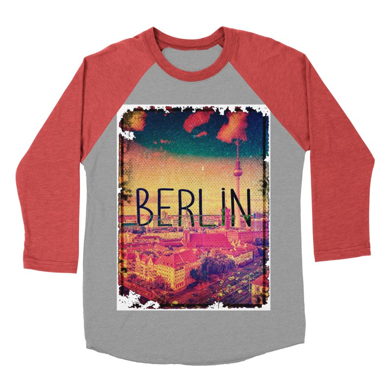 Berlin, vintage Men's Baseball Triblend T-Shirt by ALMA VISUAL's Artist Shop