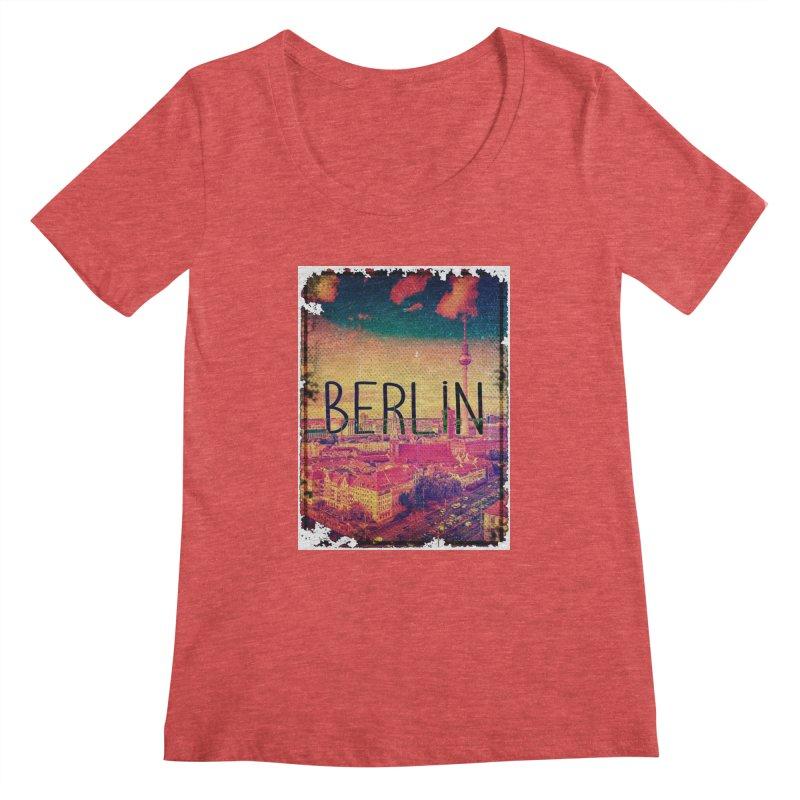 Berlin, vintage Women's Scoopneck by ALMA VISUAL's Artist Shop