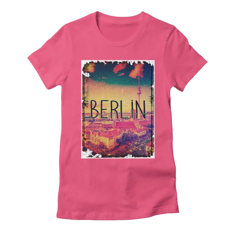 Berlin, vintage Women's Fitted T-Shirt by ALMA VISUAL's Artist Shop