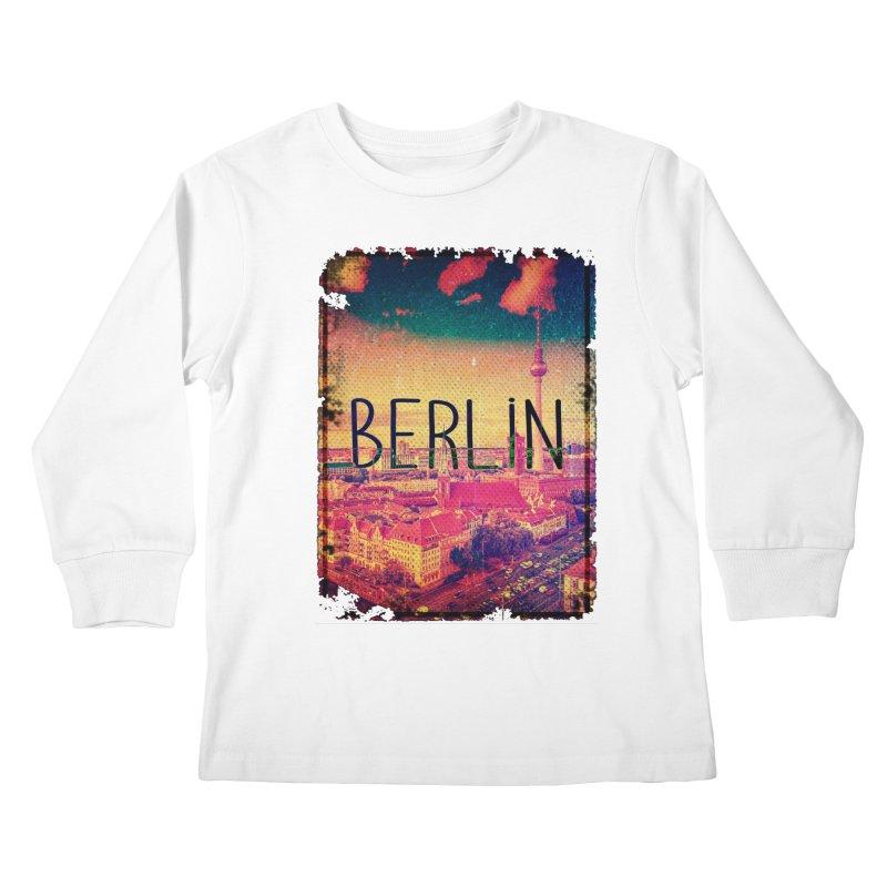 Berlin, vintage Kids Longsleeve T-Shirt by ALMA VISUAL's Artist Shop