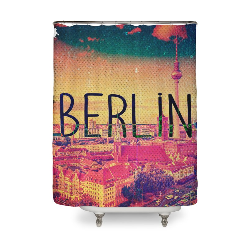 Berlin, vintage Home Shower Curtain by ALMA VISUAL's Artist Shop