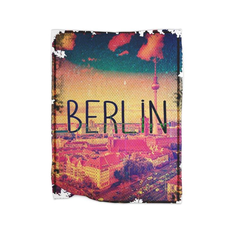 Berlin, vintage Home Blanket by ALMA VISUAL's Artist Shop