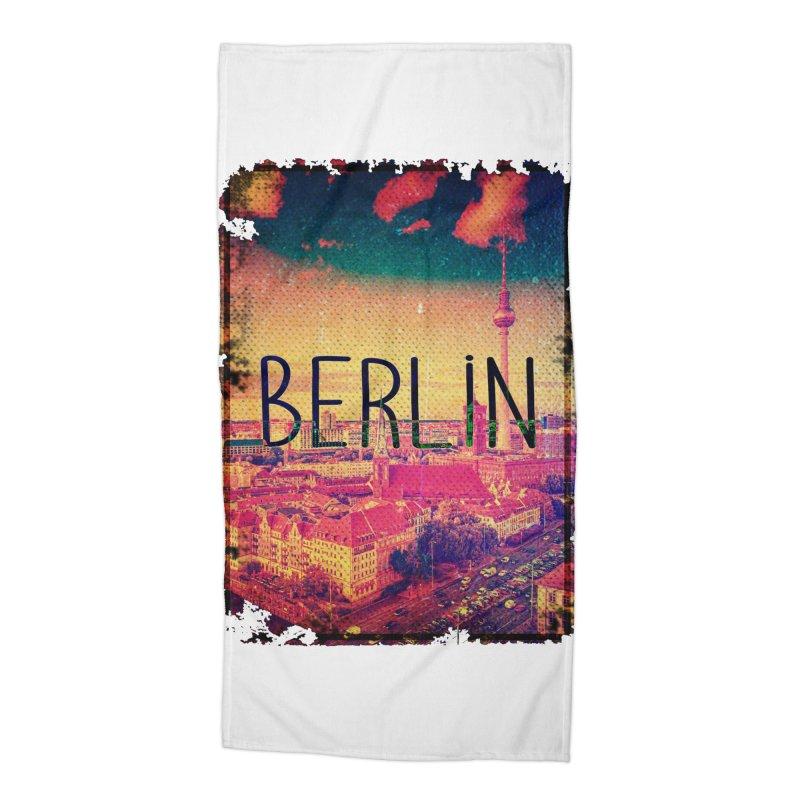 Berlin, vintage Accessories Beach Towel by ALMA VISUAL's Artist Shop