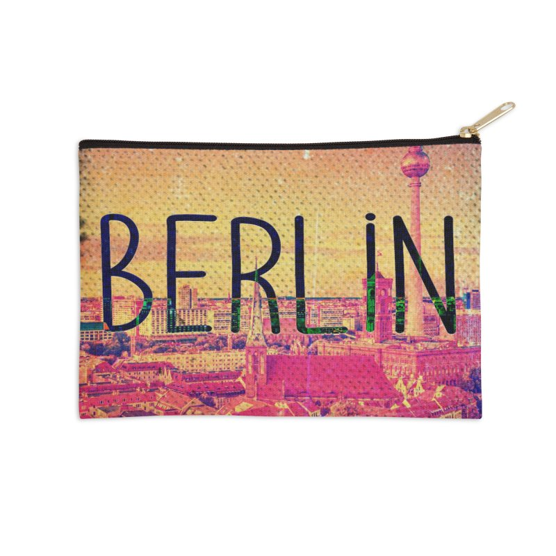 Berlin, vintage Accessories Zip Pouch by ALMA VISUAL's Artist Shop