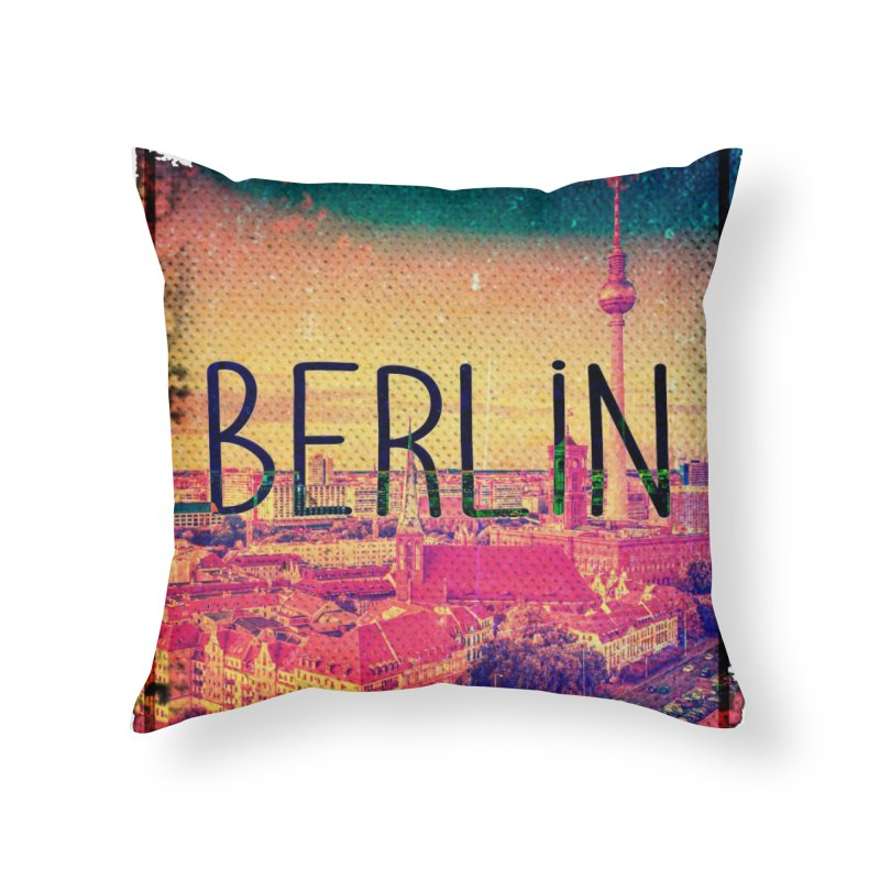 Berlin, vintage Home Throw Pillow by ALMA VISUAL's Artist Shop