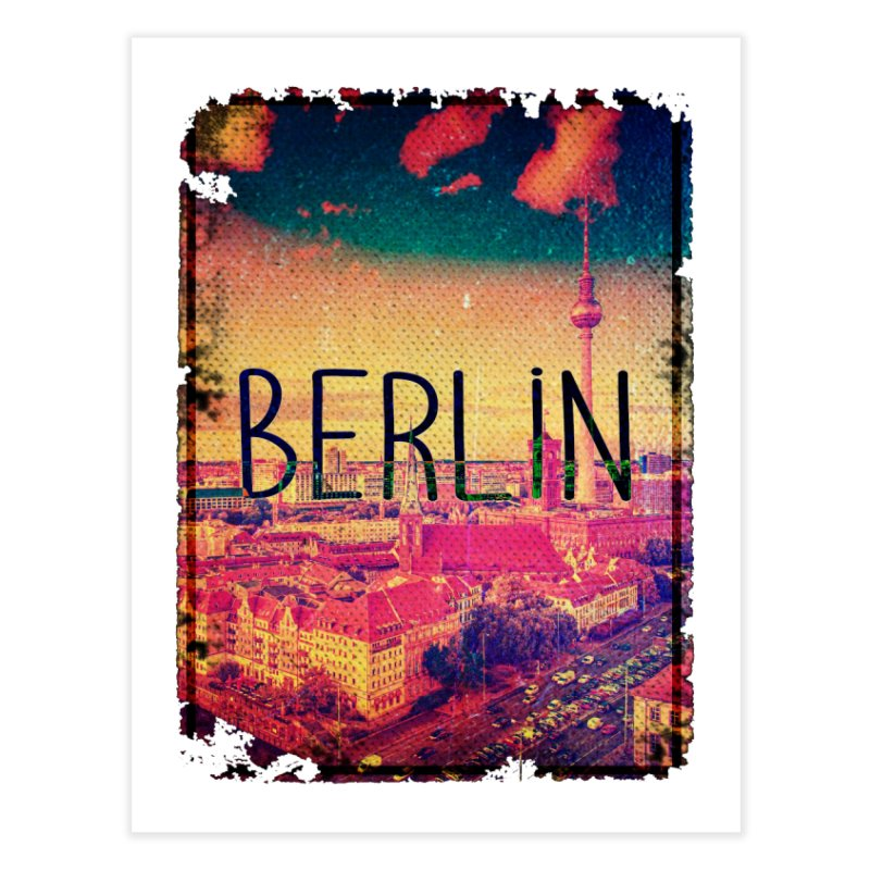 Berlin, vintage Home Fine Art Print by ALMA VISUAL's Artist Shop