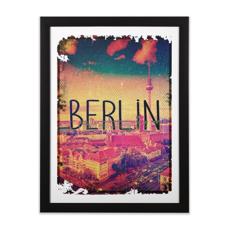 Berlin, vintage Home Framed Fine Art Print by ALMA VISUAL's Artist Shop