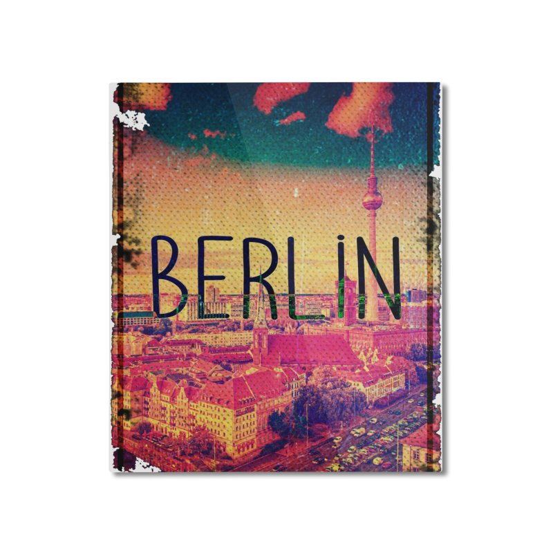 Berlin, vintage Home Mounted Aluminum Print by ALMA VISUAL's Artist Shop