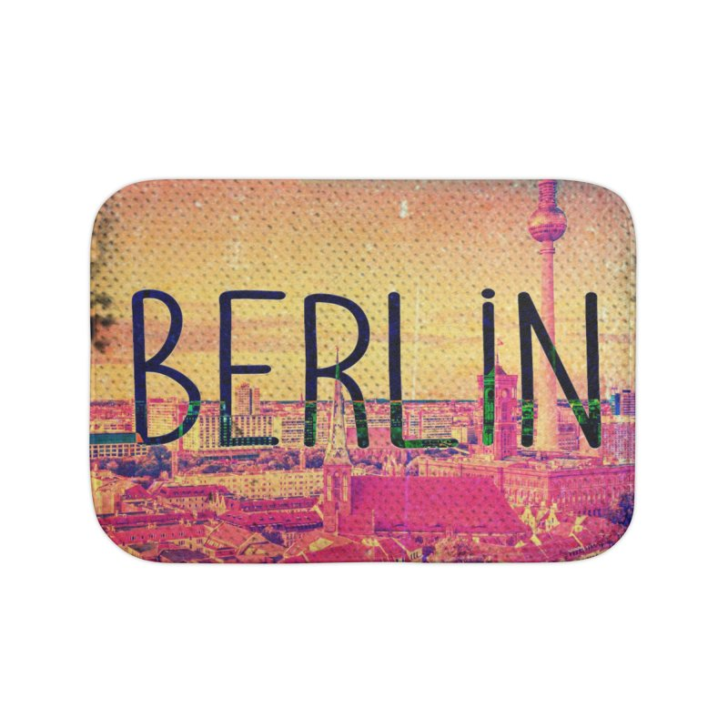 Berlin, vintage Home Bath Mat by ALMA VISUAL's Artist Shop