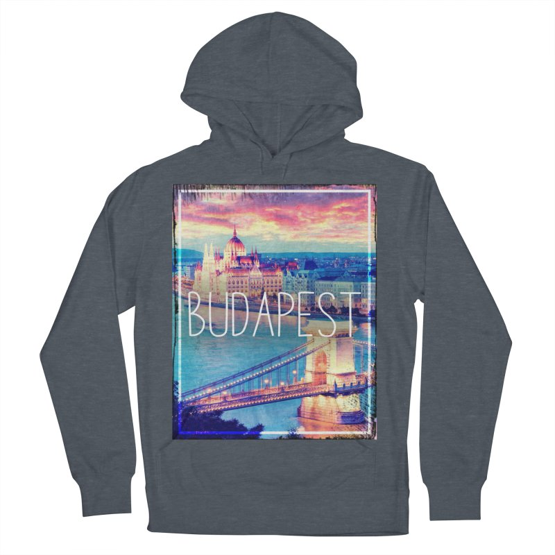 Budapest, Hungary, vintage Men's Pullover Hoody by ALMA VISUAL's Artist Shop