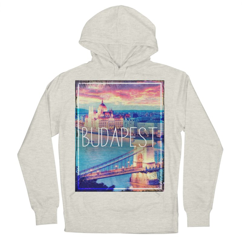 Budapest, Hungary, vintage Men's French Terry Pullover Hoody by ALMA VISUAL's Artist Shop