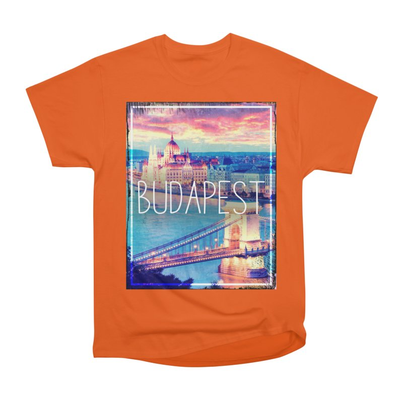 Budapest, Hungary, vintage Men's Heavyweight T-Shirt by ALMA VISUAL's Artist Shop