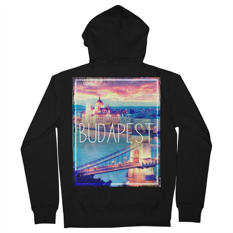 Budapest, Hungary, vintage Women's French Terry Zip-Up Hoody by ALMA VISUAL's Artist Shop