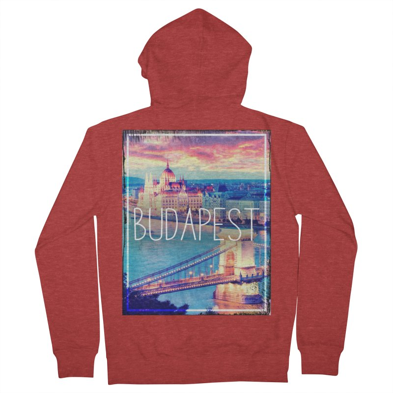 Budapest, Hungary, vintage Men's Zip-Up Hoody by ALMA VISUAL's Artist Shop