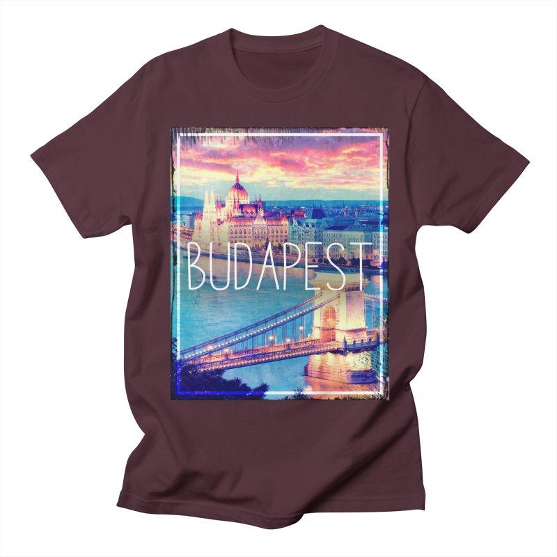 Budapest, Hungary, vintage Men's Regular T-Shirt by ALMA VISUAL's Artist Shop