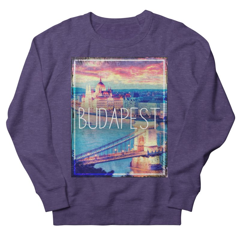 Budapest, Hungary, vintage Men's French Terry Sweatshirt by ALMA VISUAL's Artist Shop