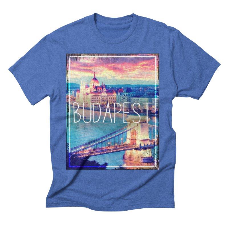 Budapest, Hungary, vintage Men's Triblend T-Shirt by ALMA VISUAL's Artist Shop