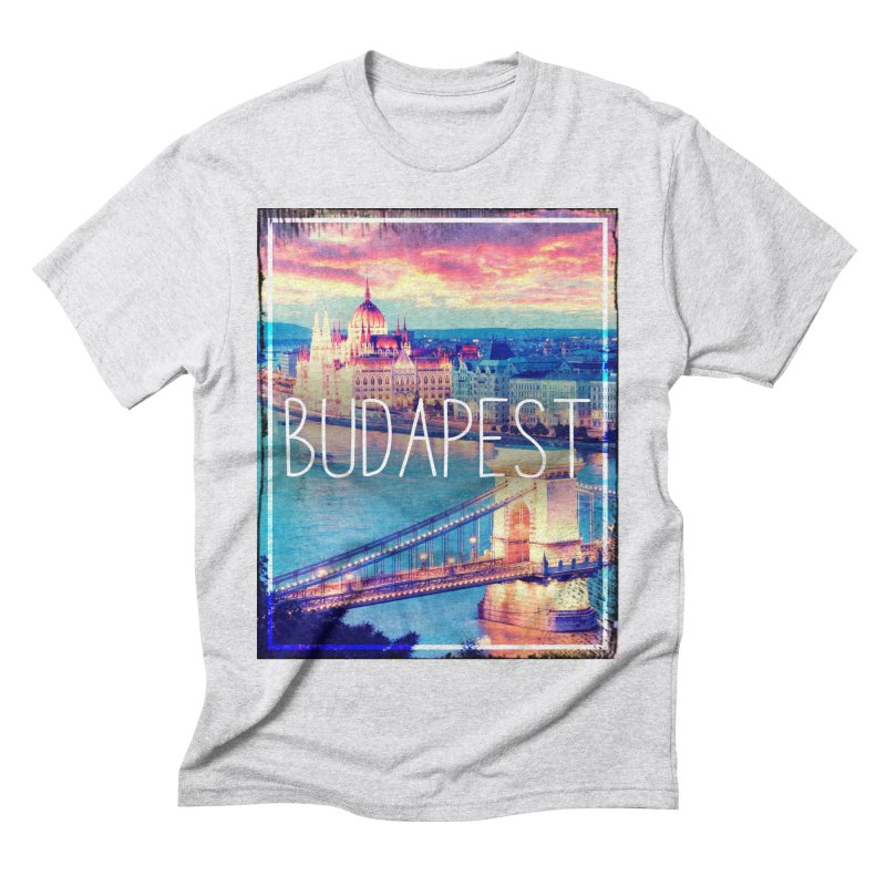 Budapest, Hungary, vintage Men's Triblend T-Shirt by ALMA VISUAL's Artist Shop