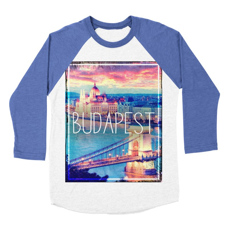 Budapest, Hungary, vintage Women's Baseball Triblend Longsleeve T-Shirt by ALMA VISUAL's Artist Shop