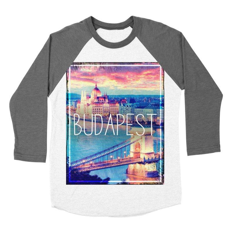 Budapest, Hungary, vintage Women's Baseball Triblend Longsleeve T-Shirt by ALMA VISUAL's Artist Shop
