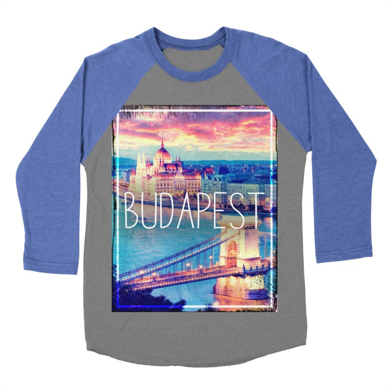 Budapest, Hungary, vintage Women's Baseball Triblend T-Shirt by ALMA VISUAL's Artist Shop