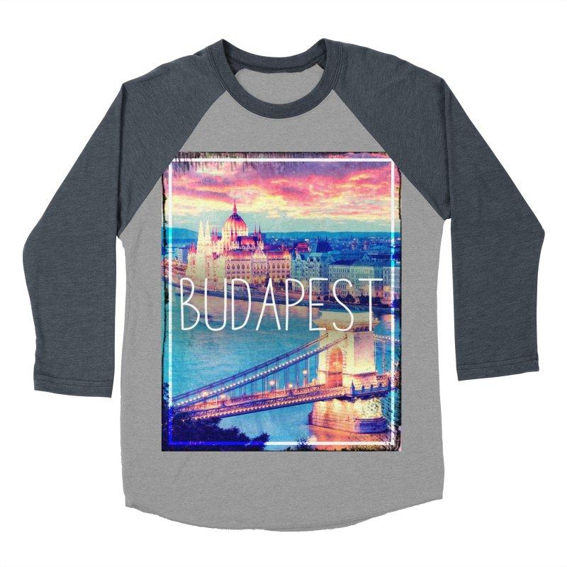 Budapest, Hungary, vintage Men's Baseball Triblend Longsleeve T-Shirt by ALMA VISUAL's Artist Shop