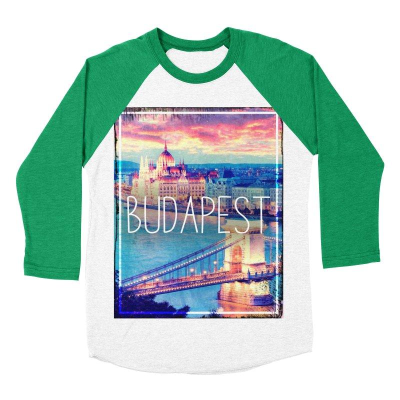 Budapest, Hungary, vintage Men's Baseball Triblend T-Shirt by ALMA VISUAL's Artist Shop
