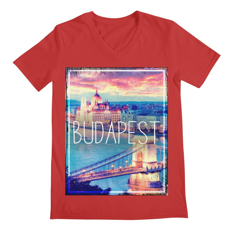 Budapest, Hungary, vintage Men's Regular V-Neck by ALMA VISUAL's Artist Shop