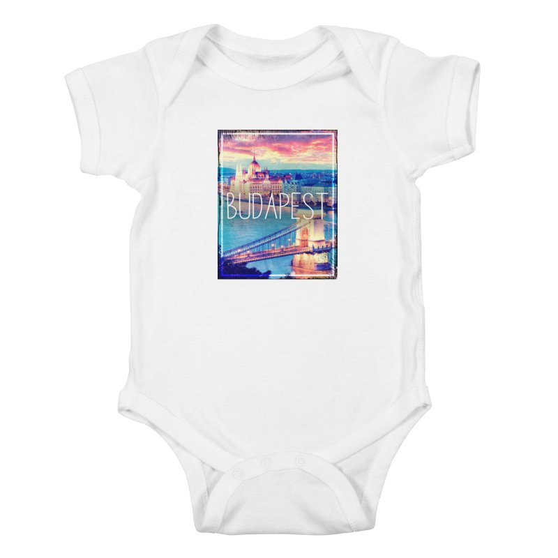 Budapest, Hungary, vintage Kids Baby Bodysuit by ALMA VISUAL's Artist Shop