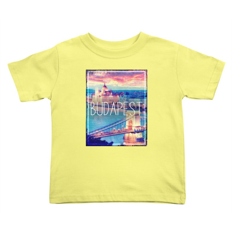Budapest, Hungary, vintage Kids Toddler T-Shirt by ALMA VISUAL's Artist Shop