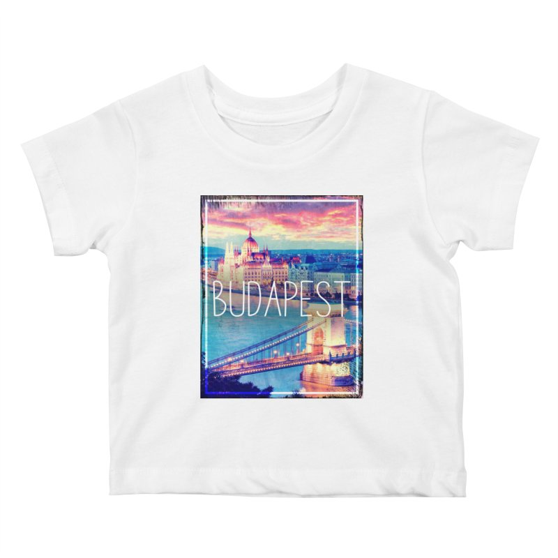 Budapest, Hungary, vintage Kids Baby T-Shirt by ALMA VISUAL's Artist Shop