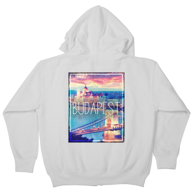 Budapest, Hungary, vintage Kids Zip-Up Hoody by ALMA VISUAL's Artist Shop