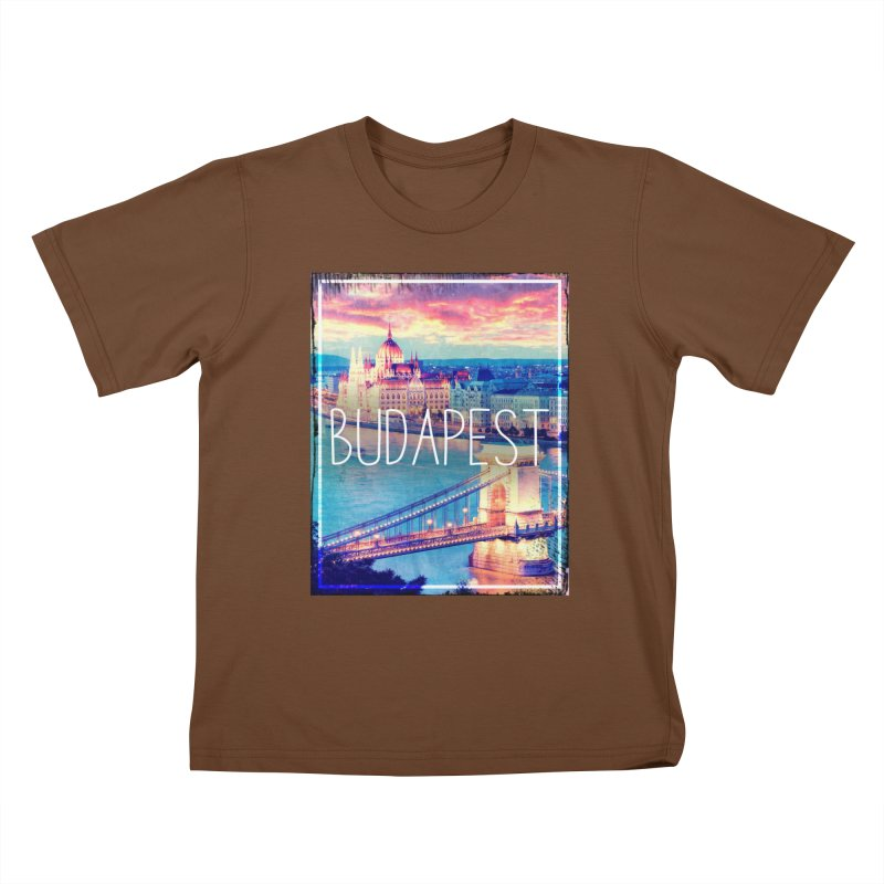 Budapest, Hungary, vintage Kids T-Shirt by ALMA VISUAL's Artist Shop