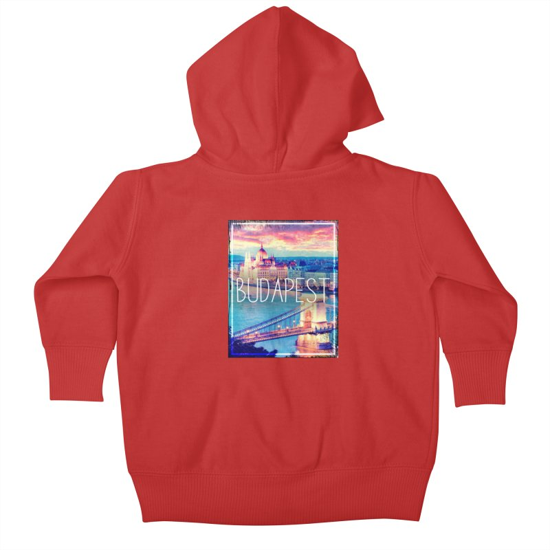 Budapest, Hungary, vintage Kids Baby Zip-Up Hoody by ALMA VISUAL's Artist Shop
