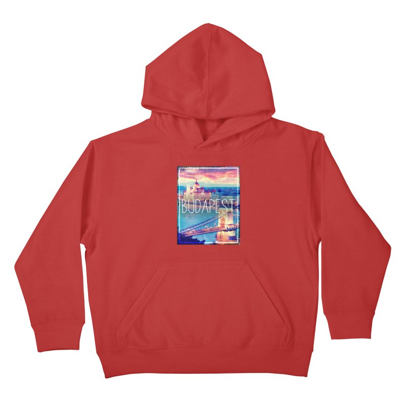 Budapest, Hungary, vintage Kids Pullover Hoody by ALMA VISUAL's Artist Shop