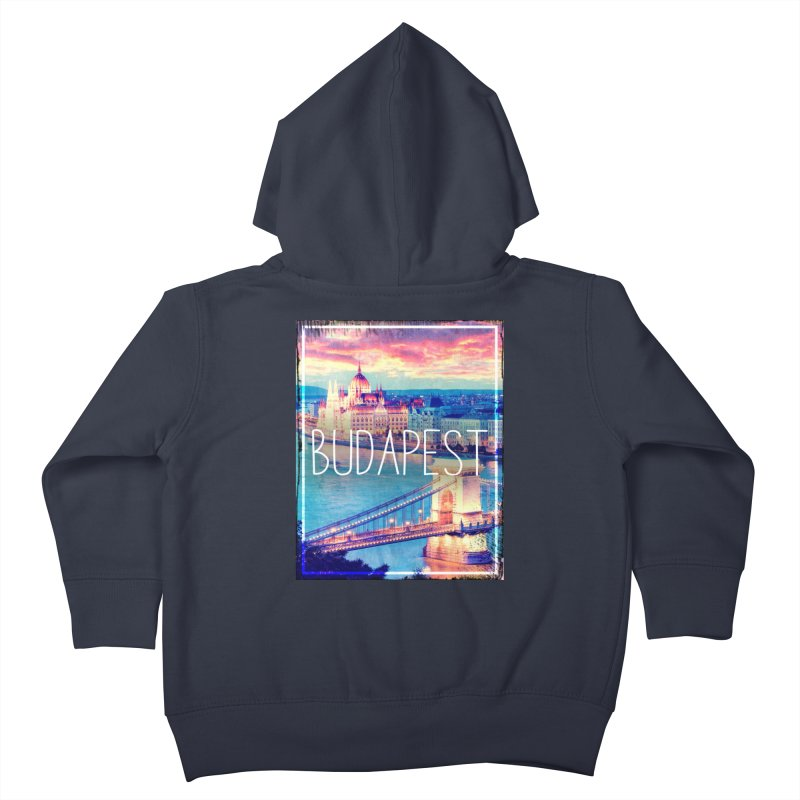 Budapest, Hungary, vintage Kids Toddler Zip-Up Hoody by ALMA VISUAL's Artist Shop