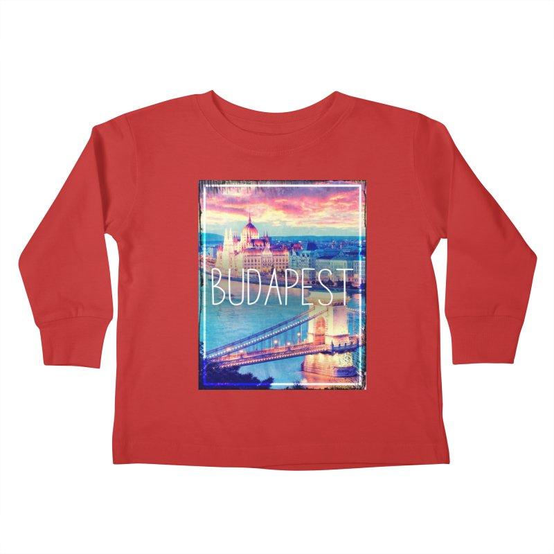 Budapest, Hungary, vintage Kids Toddler Longsleeve T-Shirt by ALMA VISUAL's Artist Shop