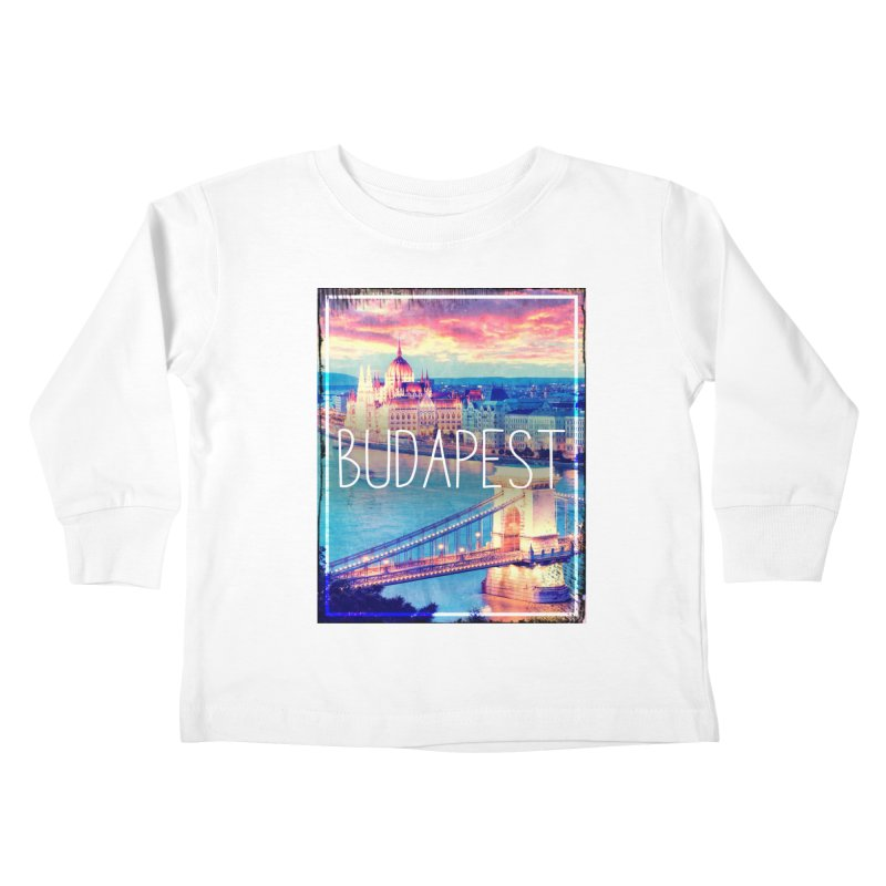 Budapest, Hungary, vintage Kids Toddler Longsleeve T-Shirt by ALMA VISUAL's Artist Shop