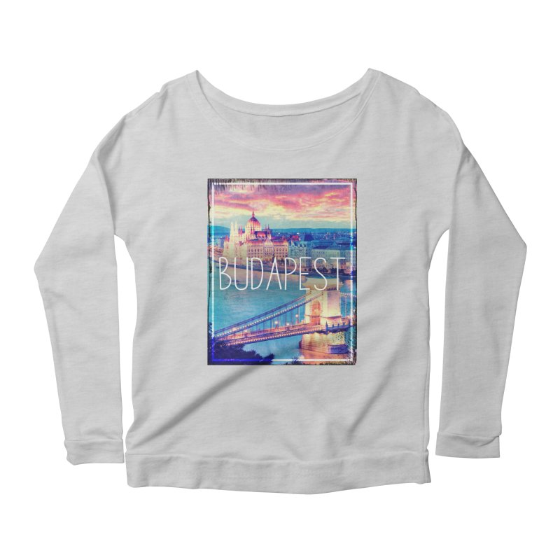 Budapest, Hungary, vintage Women's Longsleeve Scoopneck  by ALMA VISUAL's Artist Shop