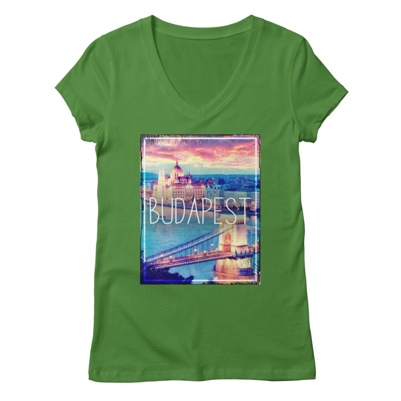 Budapest, Hungary, vintage Women's Regular V-Neck by ALMA VISUAL's Artist Shop