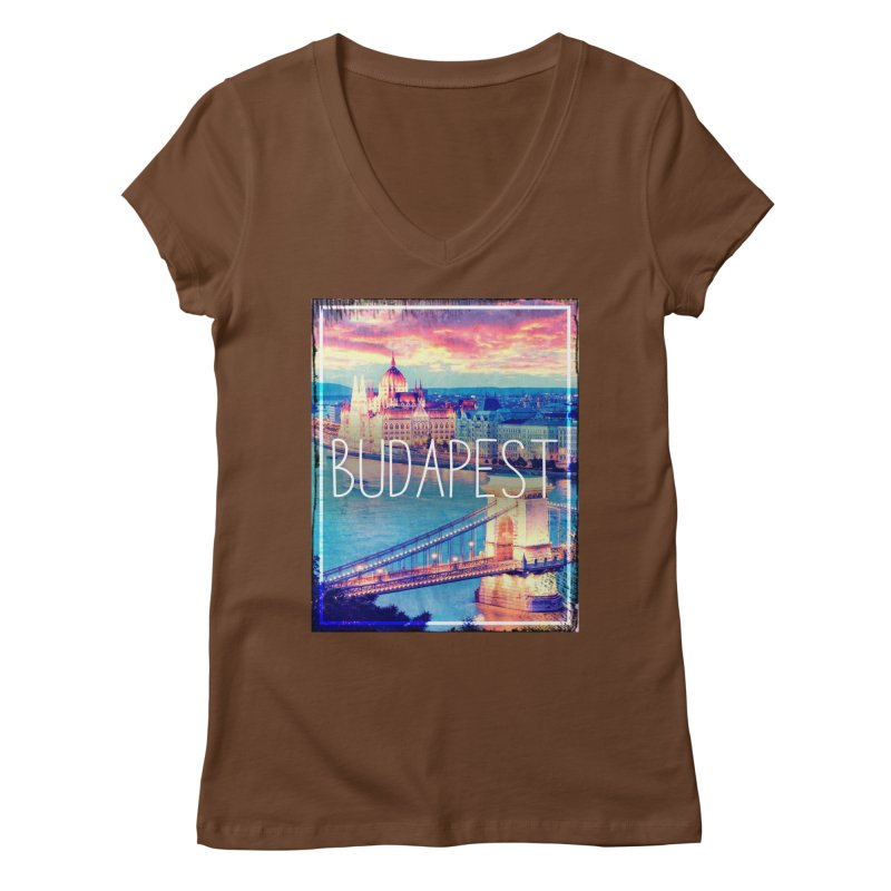 Budapest, Hungary, vintage Women's V-Neck by ALMA VISUAL's Artist Shop